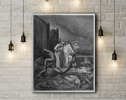 Gustav Dore: Away!. Fine Art Canvas.